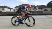 Jessica Jones Meyers bicycling. Photo courtesy Dark Mark.